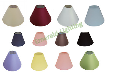 """9"""" or 12"""" COTTON COOLIE LAMPSHADE TABLE LAMP CEILNIG LIGHT SHADE 15 COLOURS"""