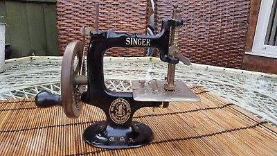 Antique 'a Singer For The Girls' Miniature Childs Sewing Machine