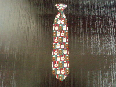 American Greetings 2008 Christmas Snowman/Santa Holiday Novelty Clip On Neck Tie