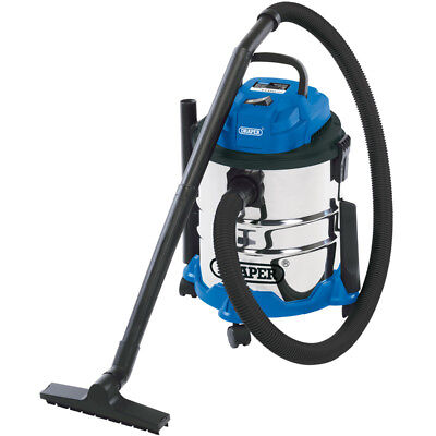 Draper 20515 20L 1250W 230V WET AND DRY VACUUM CLEANER & STAINLESS STEEL TANK