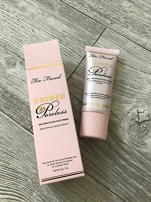Too Faced Primed & Poreless Skin Smoothing Face Primer Brand New Boxed Free P&P