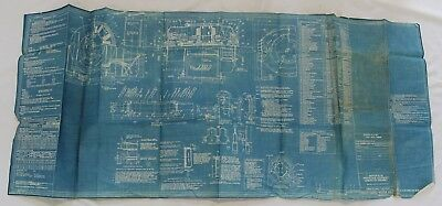 1944 Bureau of Ships Blueprints 100Ft Harbor Tugs Master Plan Propulsion Equipme