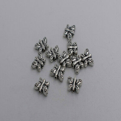 20pcs Antique silver plated little nice betterfly beads T0099