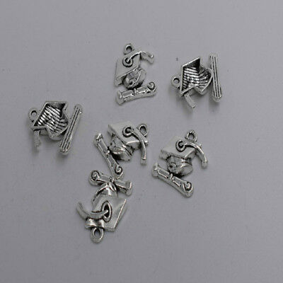 20pcs Antique silver nice mortarboard charm pendant T0013