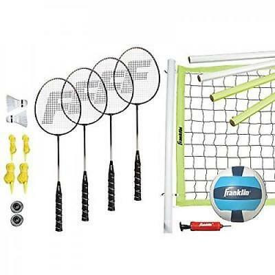 Franklin Sports Advanced Badminton & Volleyball Outdoor Complete Set