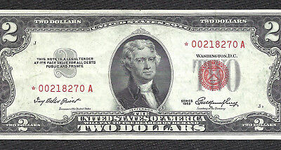 1953 $2 RED Seal *STAR* Legal Tender *UNITED STATES NOTE* Old US Paper Money!