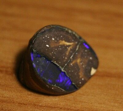 12.13ct Boulder Opal Polished Rough- Neon Violet- Queens Land District See Video