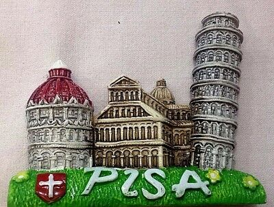 Souvenir Fridge Magnet Italia Italy - Pisa Leaning Tower  2 - Brand New