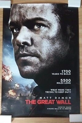 """The Great Wall 27"""" x 40"""" Original Official D/S Movie Poster"""