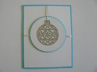 Christmas Cards - Silver Bell Stampin' Up - handmade - lot of 10 w/envelopes