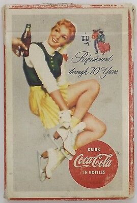 RARE Coca-Cola 1956 Pinup Girl Style Playing Cards Pack Poker Vintage Cards Exc