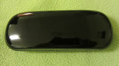 Black, hard glasses case, metal spectacle case, gloss finish, shiny, gift (D1)