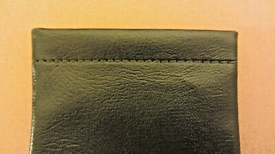Dark green glasses case, soft spectacle, leather look, spring close, gift  (N3)