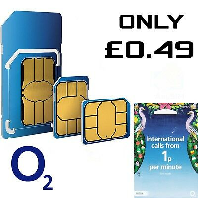 O2 International SIM Card NETWORK PAY AS YOU GO 02 SIM CARD SEALED 02