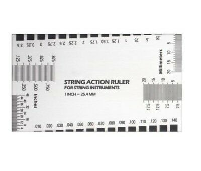 Steel String Action Ruler Gauge for Guitar Bass Mandolin Banjo Nut Saddle NEW