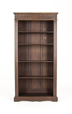 Antique Oak Bookcase | Carved Victorian Bookcase | Scotland, 1880  | B452