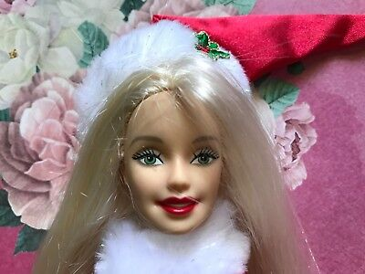 Barbie Doll Christmas Holiday  Barbie With Santa Outfit Newly Deboxed