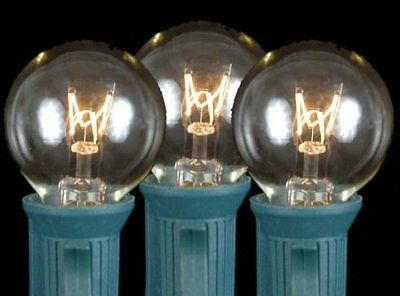 25 Pack G30 Outdoor String Light Globe Replacement Bulbs Clear C7/E12 Candelabra