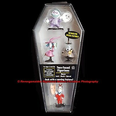 Applause Nightmare Before Christmas Pvc Two-Faced Figurines Mint Coffin Box New
