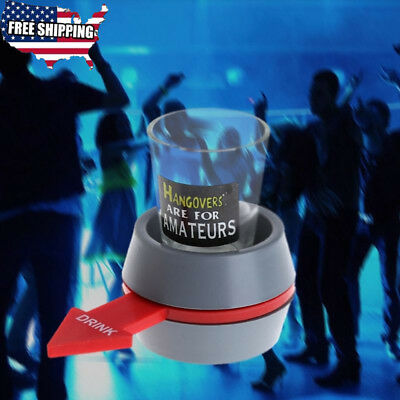 Fun Spinner Spin The Shot Roulette Glass Alcohol Drinking Games Xmas Party Gifts