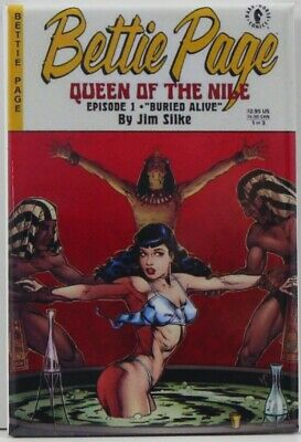 """Bettie Page """"Queen of the Nile"""" 2"""" X 3"""" Fridge / Locker Magnet. Sexy Pinup GGA"""