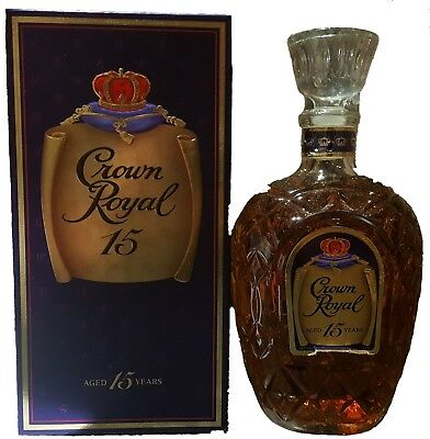 Crown Royal 15 Year Old Canadian Whisky 750ml RARE