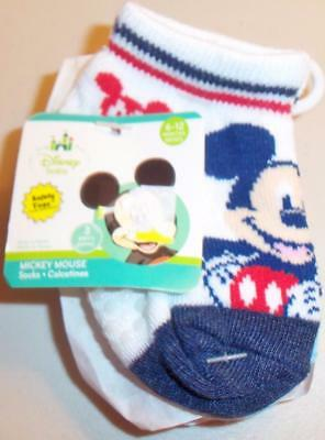 DISNEY BABY MICKEY MOUSE  Pk of 3  Infant Socks Size 6-12 months     NEW