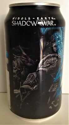 Middle Earth Shadow of War Mountain Dew Arctic Burst Can 12 fl oz FULL