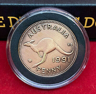 30th Birthday Anniversary Gift Present w 1989 Australian Penny in a Capsule Coin