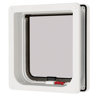 Cat Mate Lockable Cat Flap with Door Liner to 50mm - White