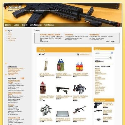 Established Airsoft Online Affiliate Business Website For Sale! Free Domain Name