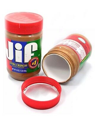 1 Piece Jif Peanut Butter Stash Can Diversion Security Safe Hide Stash Can 16 OZ