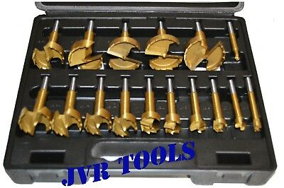 16PC TITANIUM COATED FORSTNER DRILL Wood Cutter Boring Auger Woodworking Bits
