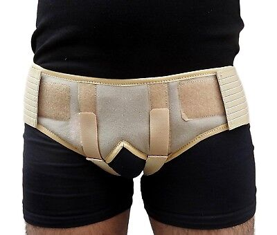 Double Inguinal Hernia Support Belt - Groin Truss Brace with two pressure pads