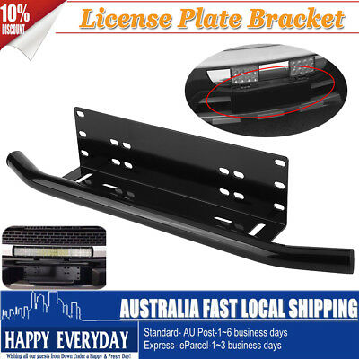 Universal Car Vehicle License Number Plate Frame Holder Bar Bumper Mount Bracket