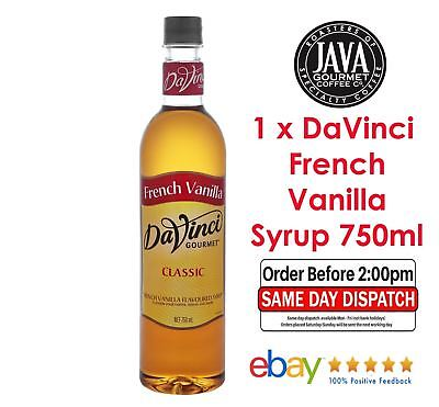 DaVinci French Vanilla Syrup 750ML *FREE SHIPPING* Same Day Dispatch pay by 2pm