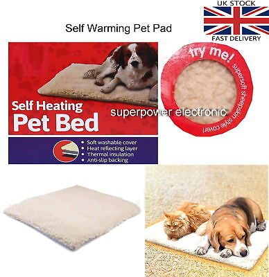 Self Heated Heating Thermal Pet Cat Dog Bed Mat Washable Super Warm Rug
