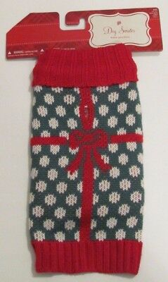 NWT Target Unisex Red, Green and White Holiday Dog Sweater Size XXS