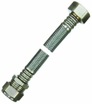 "WRAS 15mm x 3/4"" Large Bore Flexible Tap Connector - 500mm - PACK OF 2"