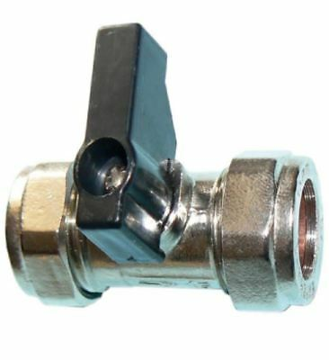 15mm Lever Operated Chrome Isolation Valve CxC - PACK OF 5