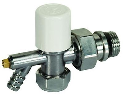 10mm Giacomini Stella Angled Radiator Valve with Drain off - PACK OF 5
