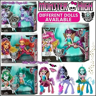 MONSTER HIGH Fright Mares Frightmares RARE Doll Multi Listing Horse Figure NEW