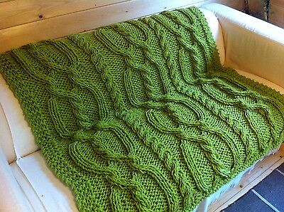 Knitting pattern- Chunky Cable Blanket / Throw.
