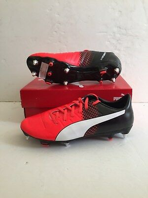 Puma Mens evoPower 2.3 Mixed SG Football Boots - Size UK 8 - Red/Black - BNIB