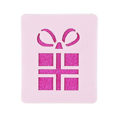 Christmas Present Face Painting Crafting Stencil 6cm x 7cm Washable Reusable