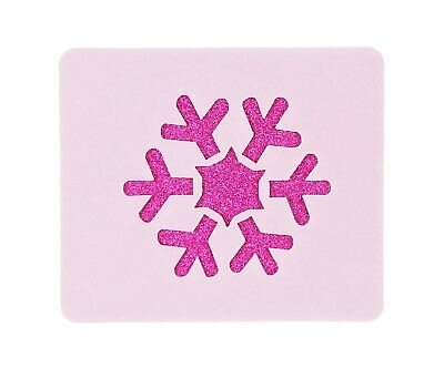 Winter Snowflake Face Painting Stencil 6cm x 7cm 190micron Washable Reusable
