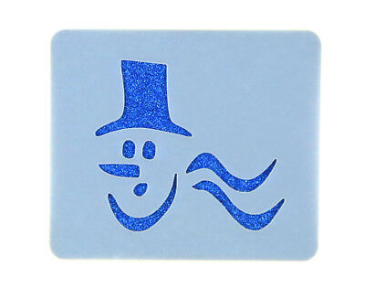 Christmas Snowman Face Painting Stencil 6cm x 7cm 190micron Washable Reusable