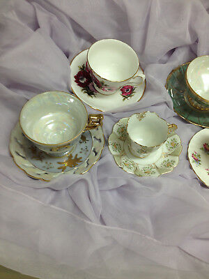 Vintage/antique Lot Of Teacups/saucers From Occupied Japan, England And Unmarked