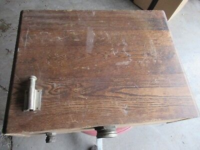 Oak Toilet Tank Vintage Wall Hung Mount Copper Lined Antique Toilet Part