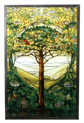Stained Glass Window Panel Tree of Life Art Glass Style Hanging Wall Home Decor